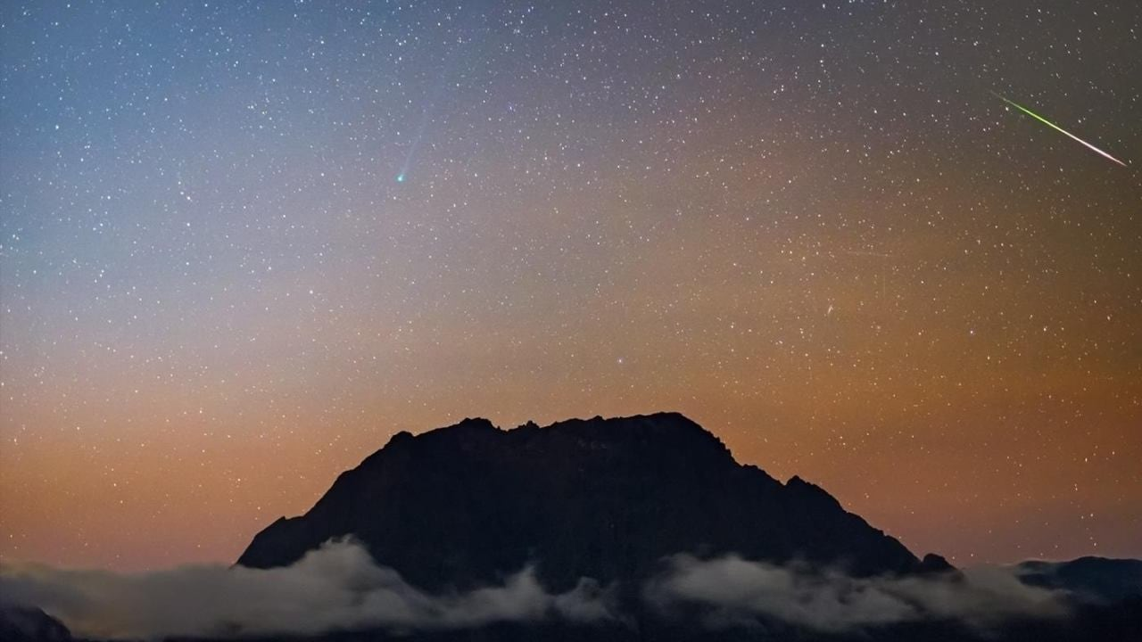 NASA Astronomy Picture of the Day highlights Comet Halley and Comet SWAN in pre-dawn sky