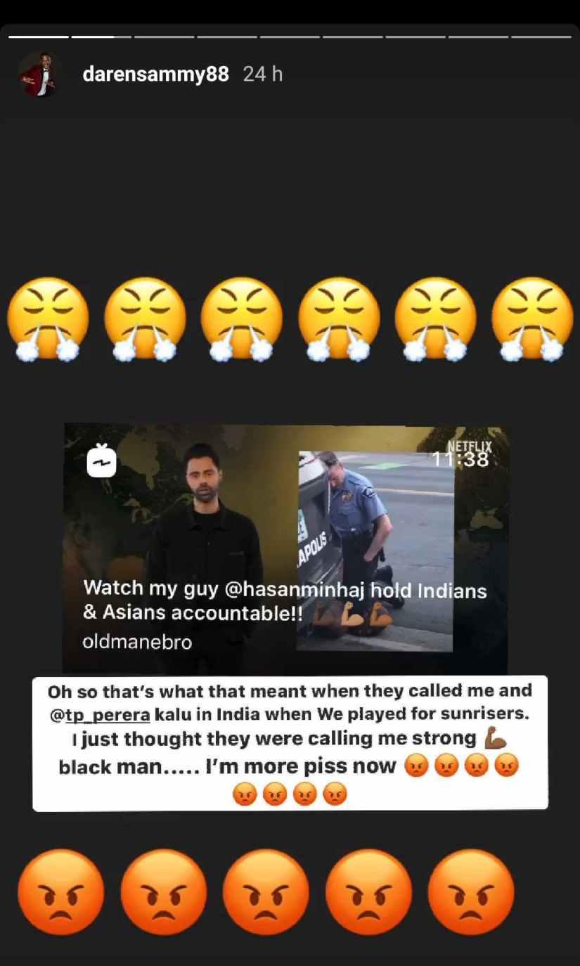 Daren Sammy's Instagram story
