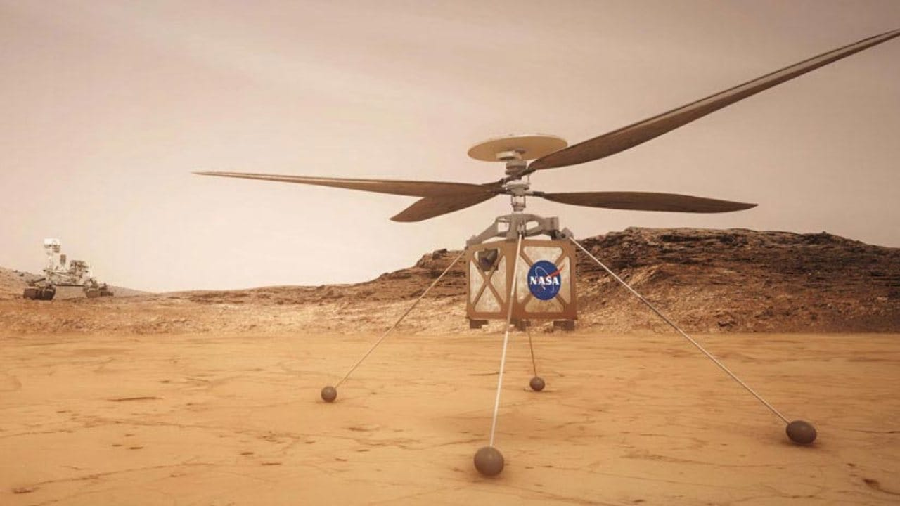 NASA planning to fly  Ingenuity Helicopter on Mars to prove that powered-flight is possible on a planet other than Earth