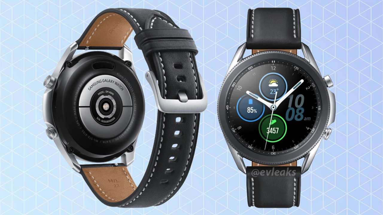 Samsung Galaxy Watch 3 renders. Image credit: evleaks