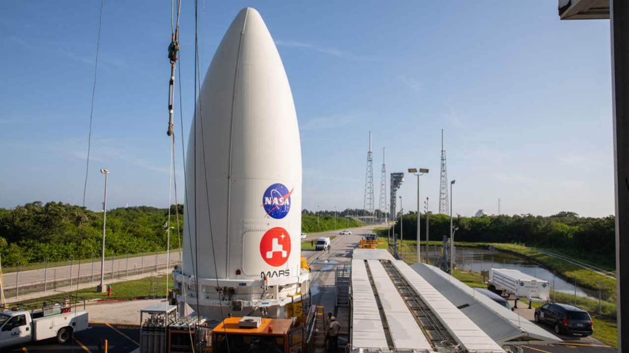 NASAs Perseverance Mars rover secured to Atlas V rocket ahead of 30 July launch