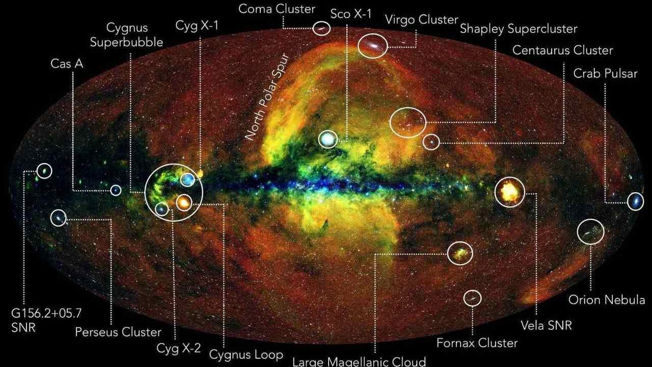 eROSITA telescope scans the entire sky, produces comprehensive X-ray map that shows millions of objects - Firstpost