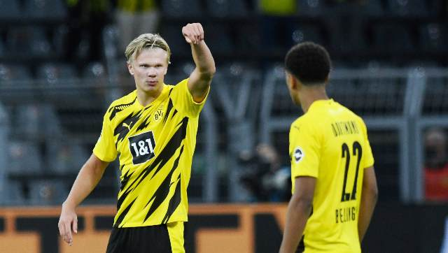Bundesliga: Erling Haaland double inspires Borussia Dortmund to win over Monchengladbach; Hertha Berlin thump Werder Bremen - Sports News , Firstpost
