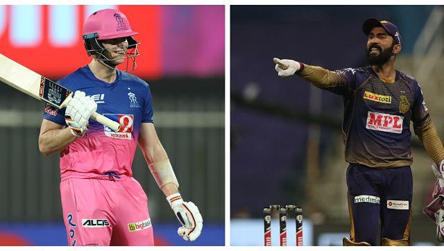IPL 2020 LIVE SCORE, RR vs KKR Match: Kolkata on top as Rajasthan lose Smith, Samson early