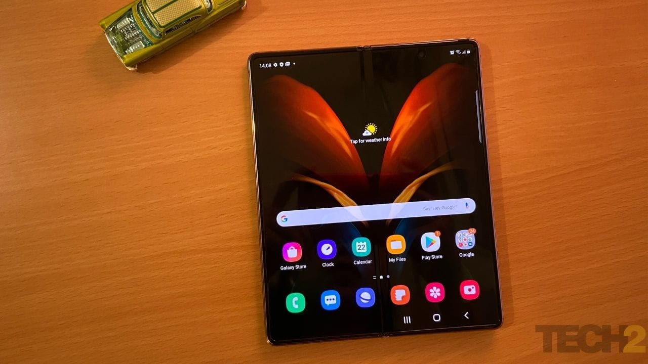 Samsung Galaxy Z Fold 2 features a 7.7-inch sAMOLED primary display. Image: tech2/Nandini Yadav