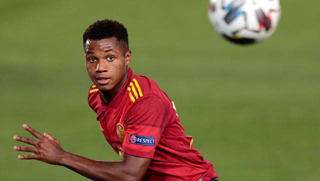 Uefa Nations League Ansu Fati Becomes Spain S Youngest Goal Scorer In Win Over Ukraine Switzerland Draws With Germany Sports News Firstpost
