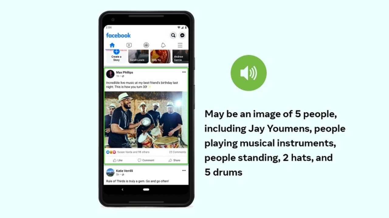 Facebook updates Automatic Alternative Text to generate automated photo descriptions for visually impaired users- Technology News, Gadgetclock