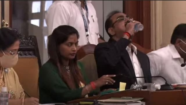 Watch: BMC top official drinks sanitiser instead of water by mistake, video goes viral