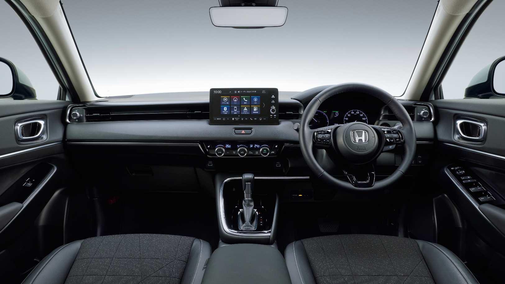 Layar sentuh mengambang 8,0 inci menjadi pusat perhatian pada dasbor Honda HR-V baru. Gambar: Honda