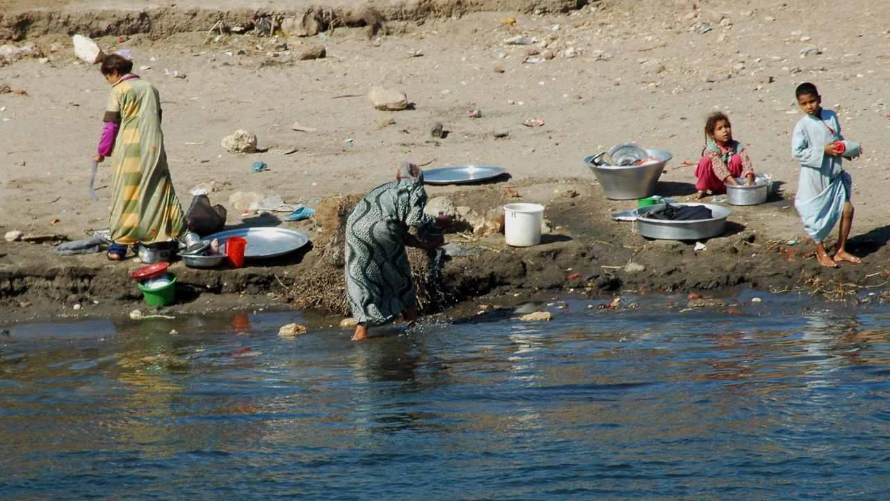 Sungai Nil di Mesir penting, namun 150 juta ton limbah industri dibuang setiap tahun, menurut Badan Urusan Lingkungan. Sekitar 75 persen dari 43 sampel ikan mengandung mikroplastik di saluran pencernaan mereka. Kredit gambar: Ibu Ahmadia / Flickr