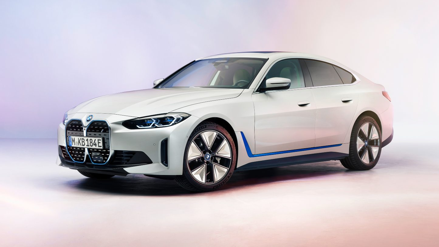The production-spec 2021 BMW i4 stays true to the concept shown in 2020 in terms of design. Image: BMW