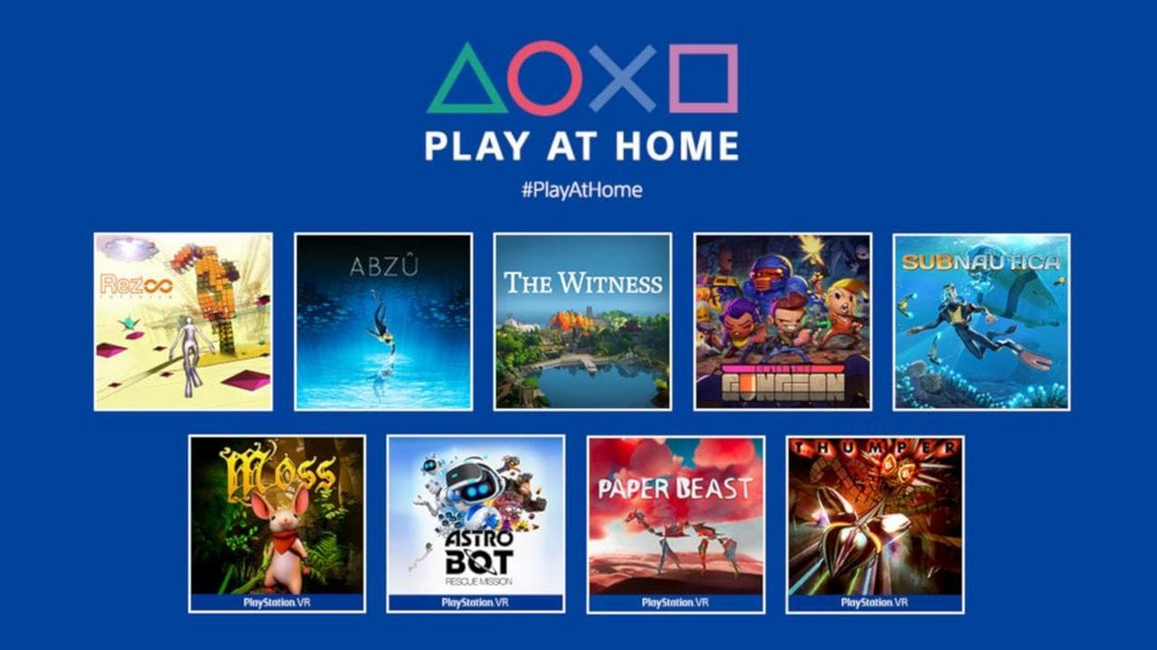 Sony Play at Home: Enter the Gungeon, Rez Infinite, Subnautica and more PS4, PS5 games available for free