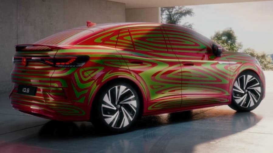 Volkswagen will reveal the ID.5 and ID.5 GTX SUV coupes later this year. Image: Volkswagen