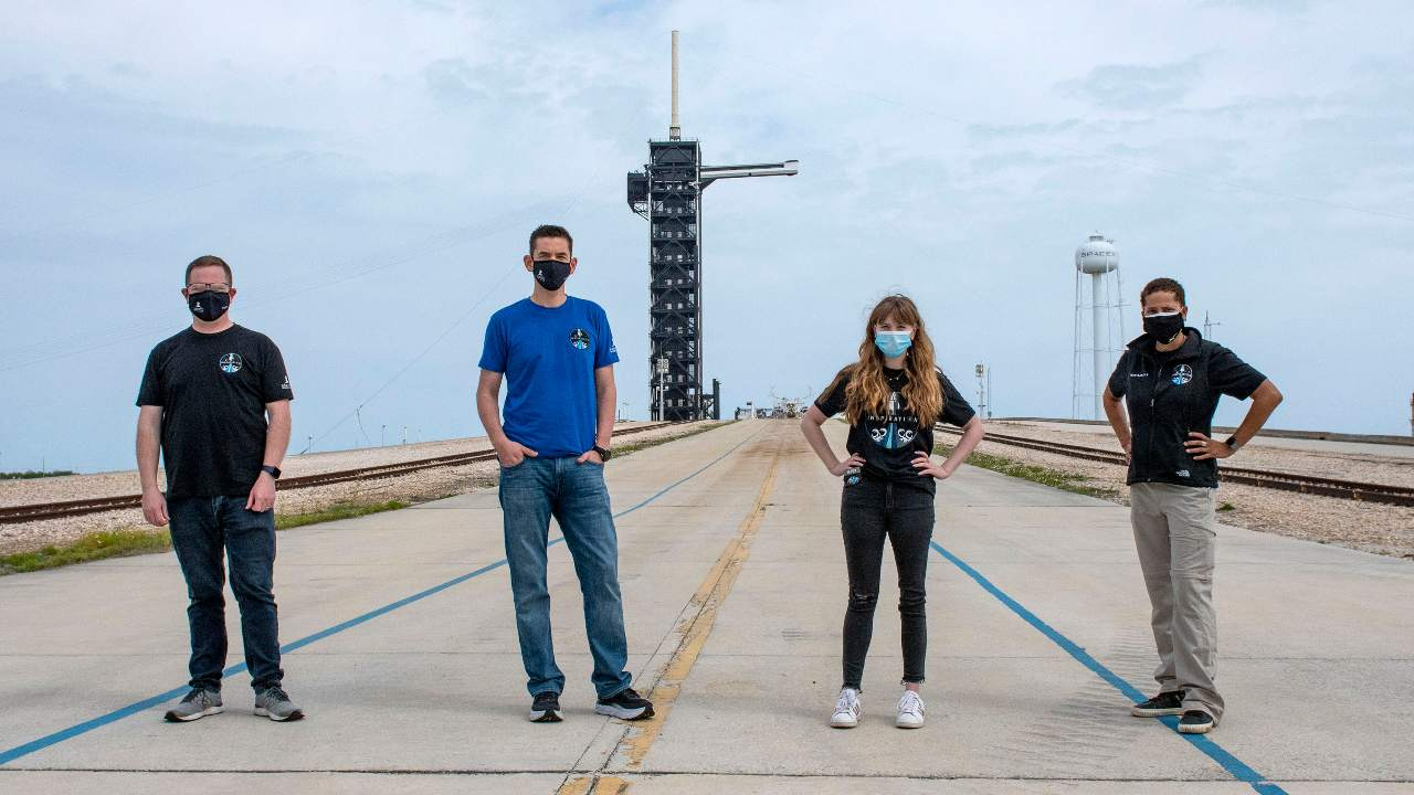 A billionaire's private SpaceX flight has filled its two remaining seats with two longtime space fans. The newest passengers are a scientist-educator from Arizona and a Seattle-area data engineer whose college buddy actually won the seat in a lottery but gave him the prize. The two were introduced Tuesday as the newest crew members. They will join tech businessman Jared Isaacman, who's paying for the three-day ride around the globe this fall while also raising money for St. Jude Children's Research Hospital in Memphis, Tennessee. An employee of St. Jude's was previously selected as a passenger. Image credit: AP