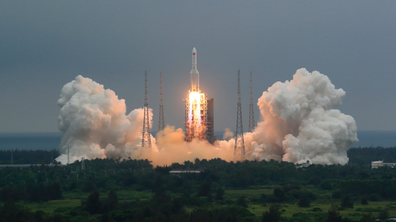Long-March 5B rocket launches first module of China's 'Heavenly Palace' space station- Technology News, Gadgetclock
