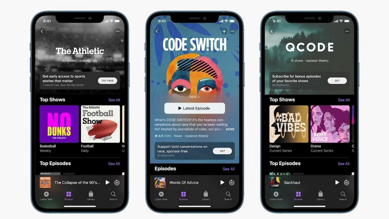 Apple Podcast Subscriptions will be available in May.