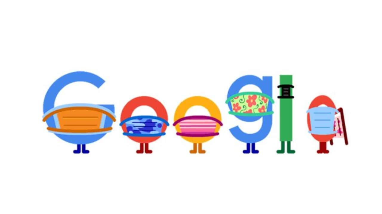 Google Doodle reminds us to wear a mask while practicing social distance- Technology News, GadgetClock