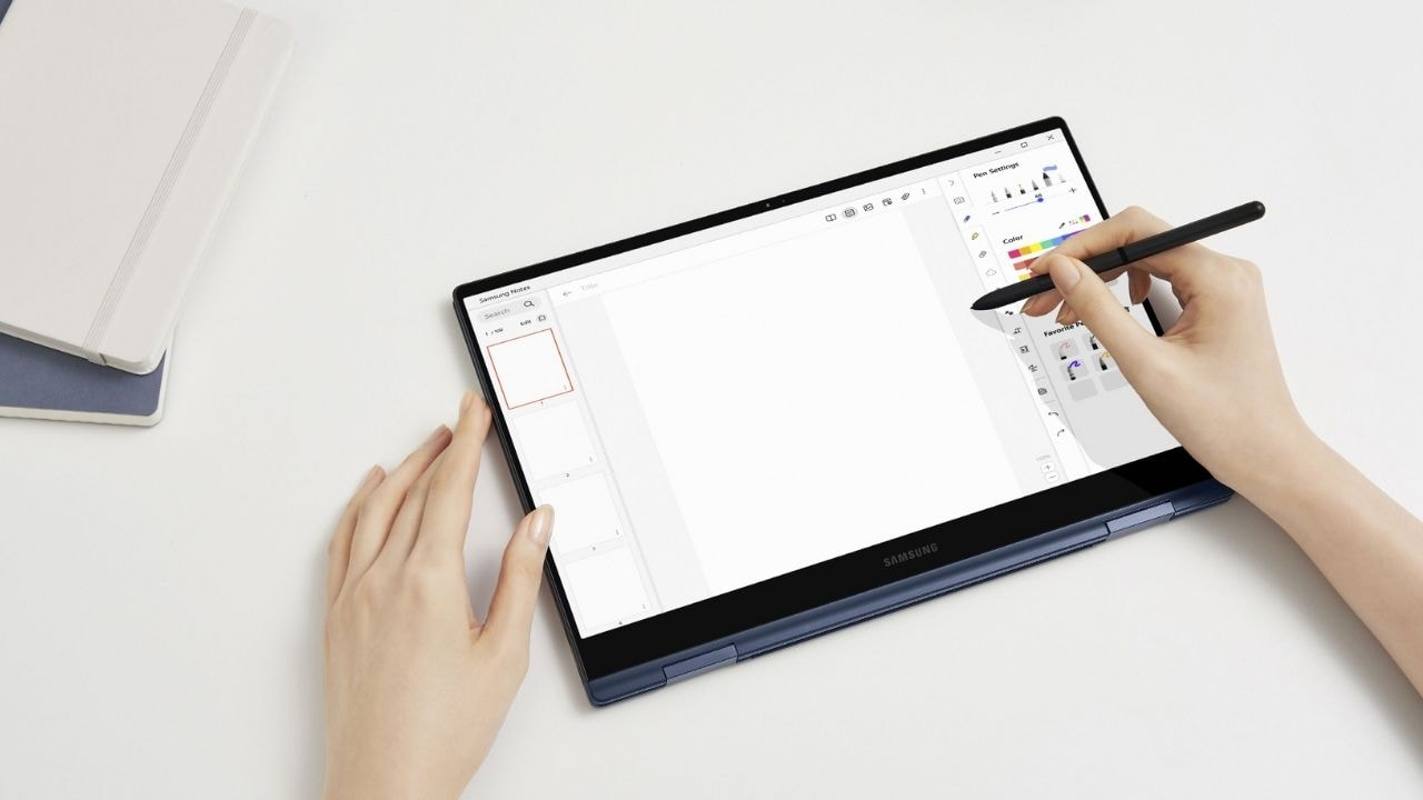 Samsung Galaxy Book Pro 360 comes with an updated S-Pen. Image: Samsung mobile press