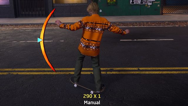 That's what a manual looks like. Screen grab from Tony Hawk's Pro Skater 1 + 2