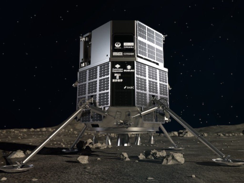 Artist illustration of the Japanese aerospace company iSpace's lunar lander. Image credit: iSpace