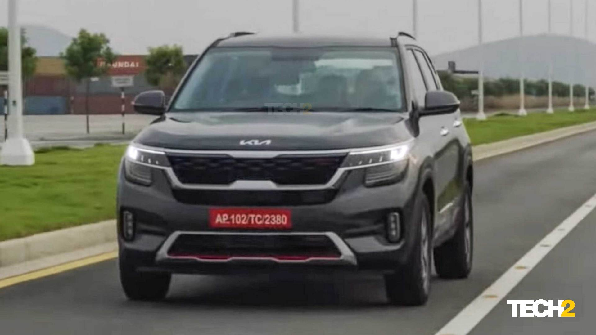 The updated Kia Seltos will also get some added features. Image: Kia
