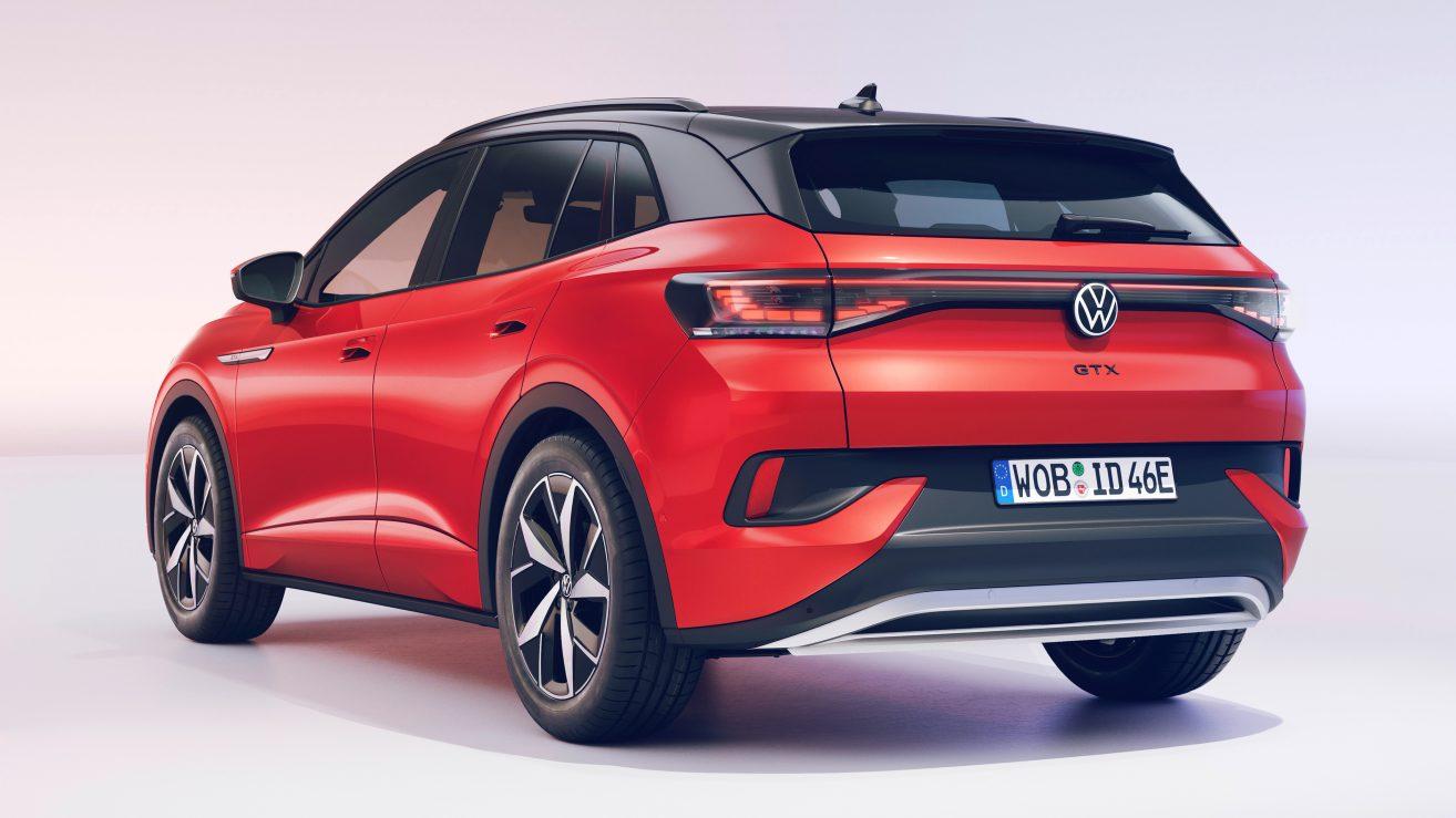 The Volkswagen ID.4 GTX has a zero to 100 kph time of 6.2 seconds. Image: Volkswagen