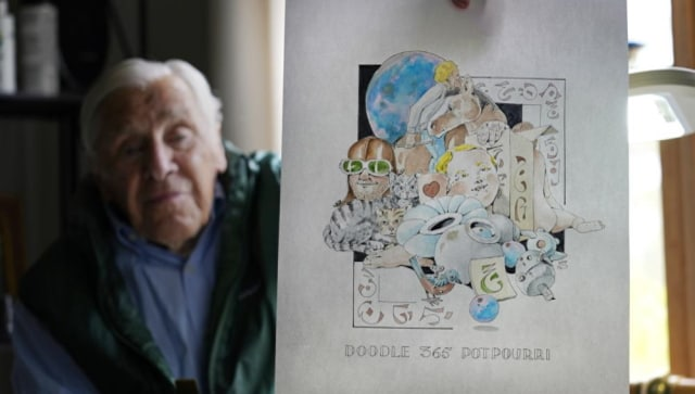 88-year-old artist Robert Seaman finishes year of pandemic 'daily doodles'