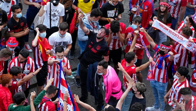 LaLiga: Atletico Madrid fans defy authorities to celebrate title win in streets of Spanish capital
