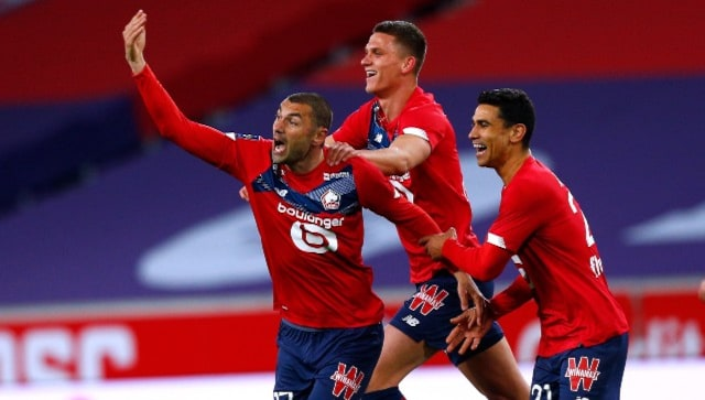 Ligue 1: Lille stay on course for title with 2-0 win over 10-man Nice