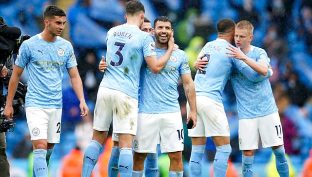 Premier League: Sergio Aguero scores twice in Everton rout to end Manchester City stint on high