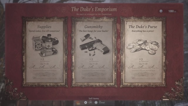 The Duke's Emporium is an absolute rip-off. Screen grab from Resident Evil Village