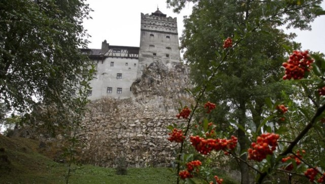 At Dracula's castle in Romania, people queue up for COVID-19 vaccine shots and house tours
