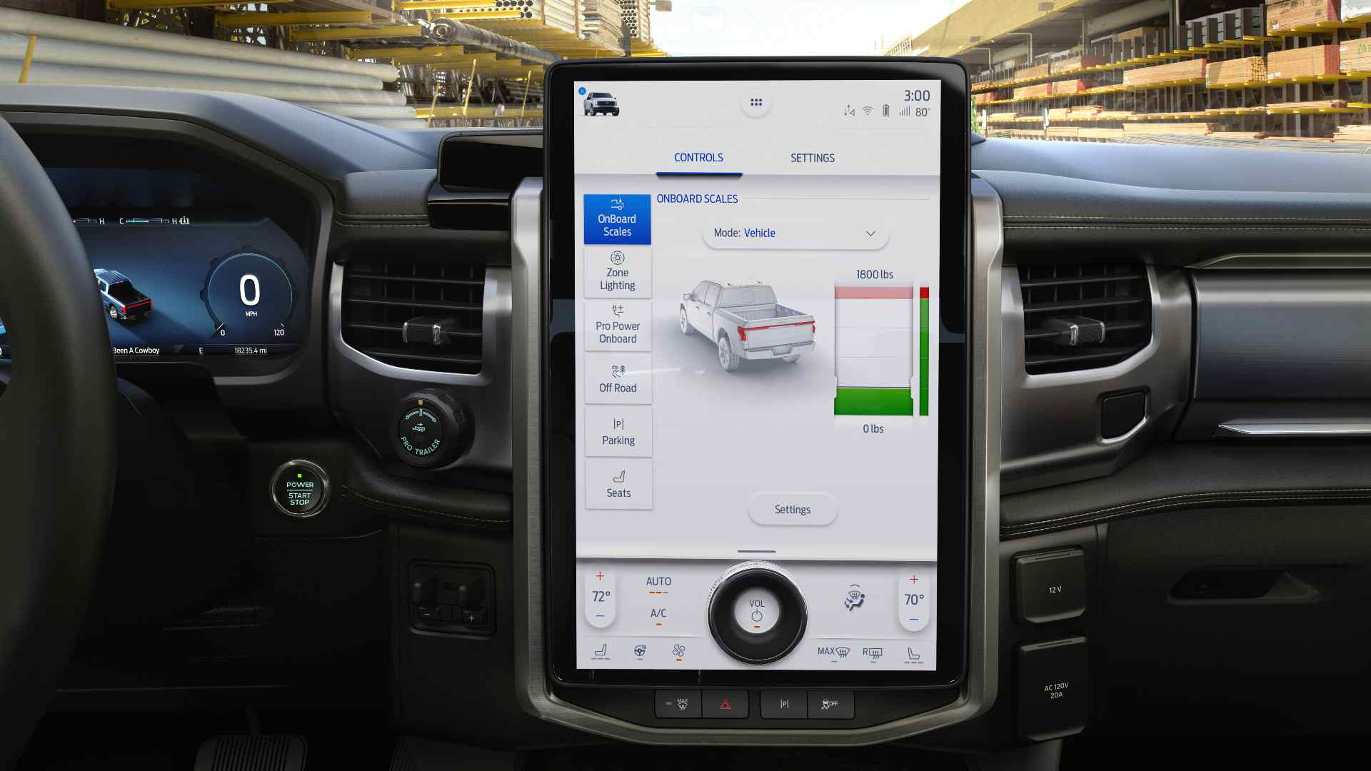 The Ford F-150 Lightning gets a tablet-style 15.5-inch touchscreen infotainment system. Image: Ford