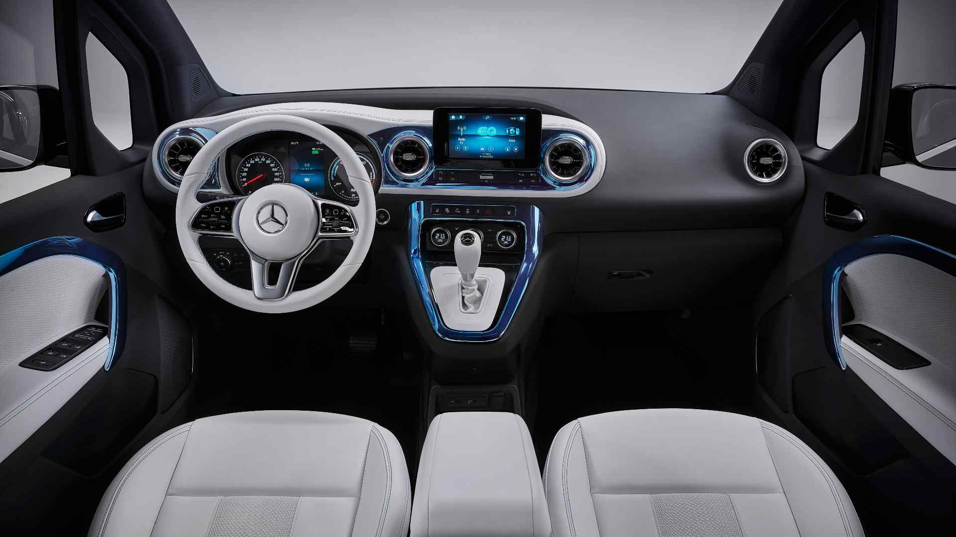 The interior of the Concept EQT will be carried over largely unchanged for the production T-Class. Image: Mercedes-Benz