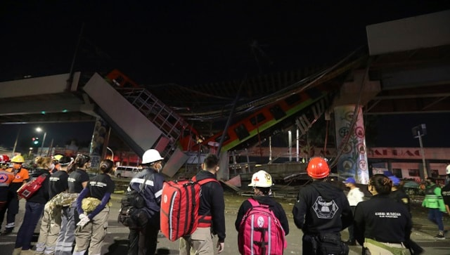 At least 20 dead, 70 injured as Mexico City metro overpass collapses onto busy road