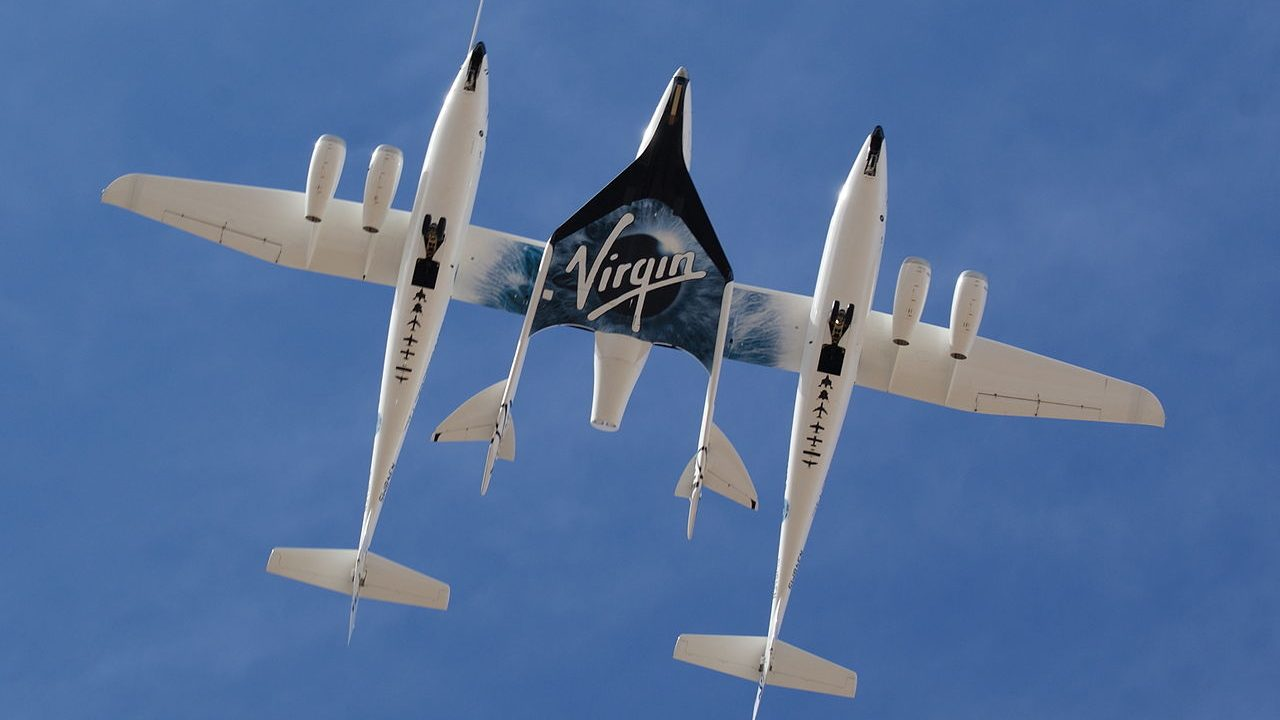 Virgin Galactic finally has the federal government's approval to start launching customers into space from New Mexico. Image credit: Wikipedia   - 1280px White Knight Two and SpaceShipTwo from directly below - Virgin Galactic overcomes final hurdle, gets FAA's nod to launch customers to space- Technology News, Firstpost