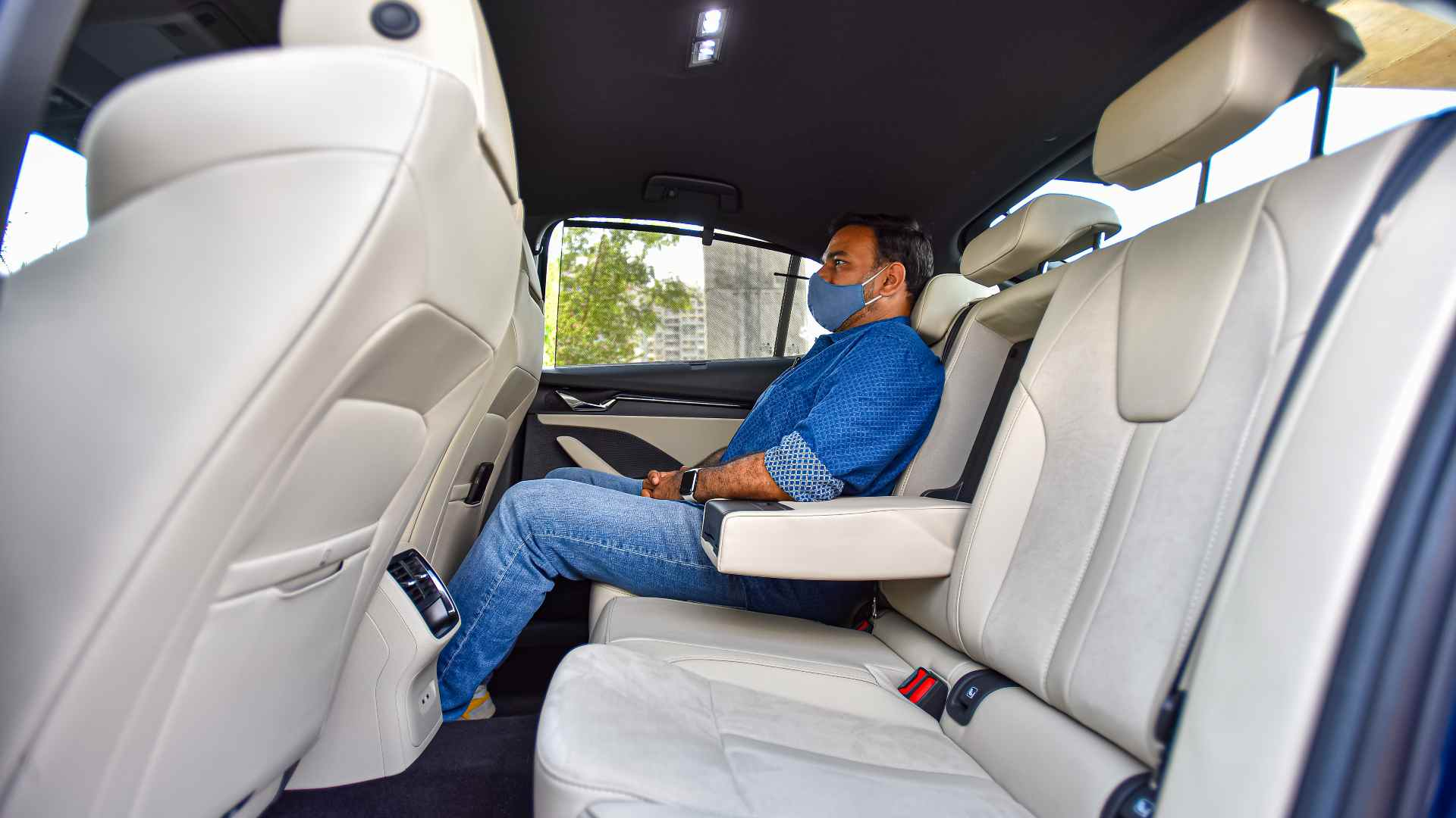 The new Octavia's rear seat has plenty of room; headroom could be a little tight for tall passengers. Image: Overdrive/Anis Shaikh