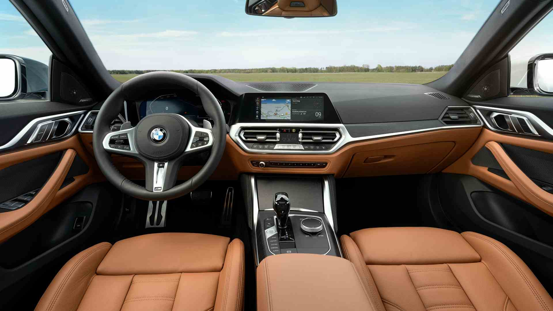 Inside, the new 4 Series Gran Coupe gets a 10.25-inch infotainment display with a 12.3-inch digital instruments display. Image: BMW