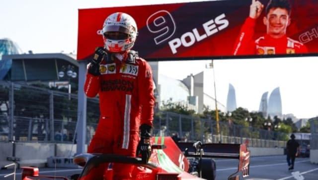 Formula 1 2021: Ferrari's Charles Leclerc on pole for Azerbaijan GP after crash-laden qualifying in Baku