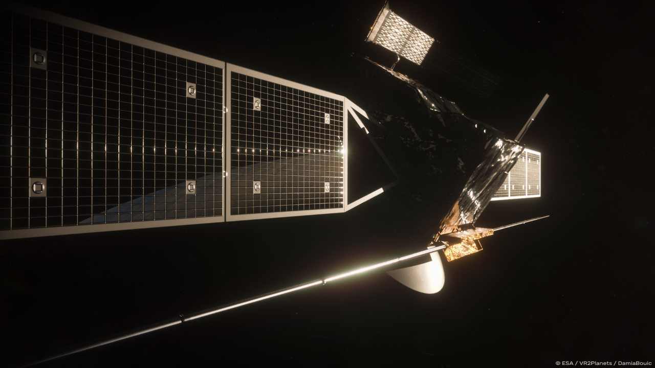 rtist rendering of ESA's EnVision spacecraft. Credits: European Space Agency/Paris Observatory/VR2Planets
