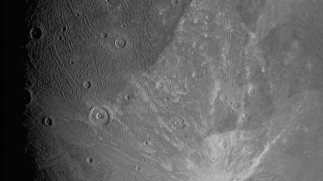 NASA's JunoCam captures a close-up image of Jupiter's moon Ganymede - Firstpost