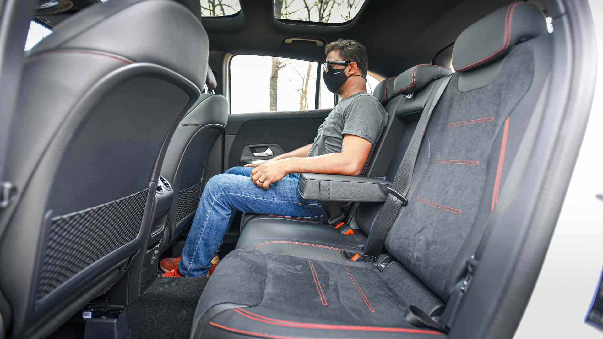 Rear-seat space is not a strength of the new GLA. Image: Overdrive/Anis Shaikh