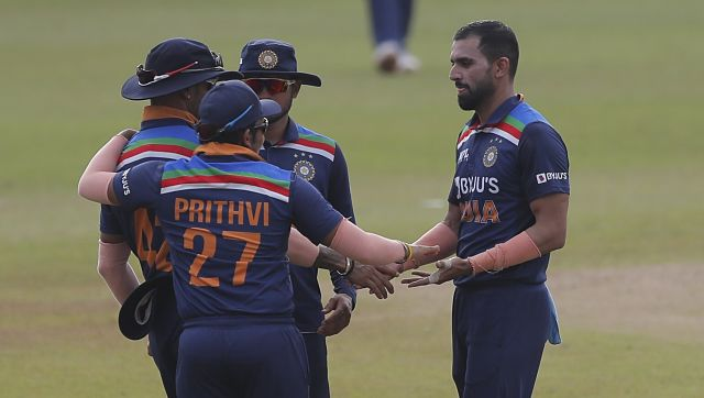 Bhuvneshwar Kumar (3 for 54), Deepak Chahar (2 for 53) and Yuzvendra Chahal (3 for 50) were the bowlers' choice for India.  They picked up eight wickets among them while one batter was sacked.  PA