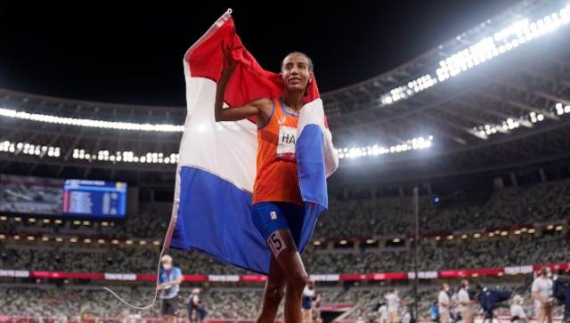 Nederlandse ster Siban Hassan won de 5.000m op de Prefontaine Classic