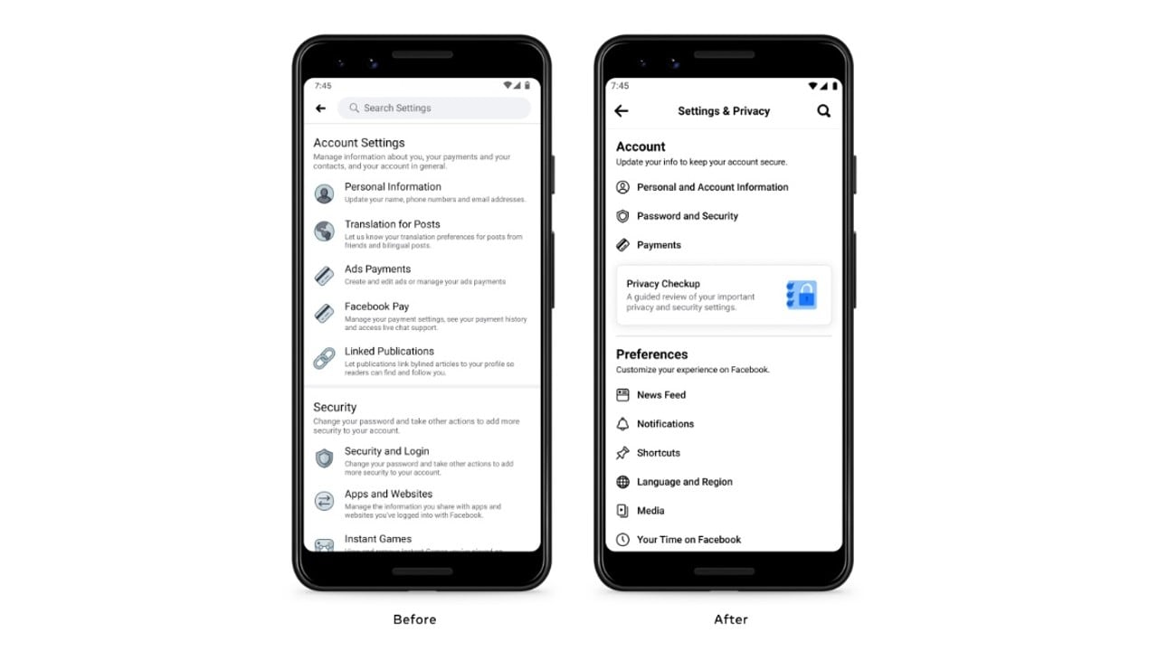 Facebook Revamps Mobile App Settings Page for Better User Experience – Technology News, Firstpost
