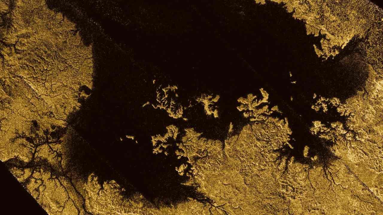 Ligeia Mare on Titan. NASA/JPL-Caltech/ASI/Cornell -