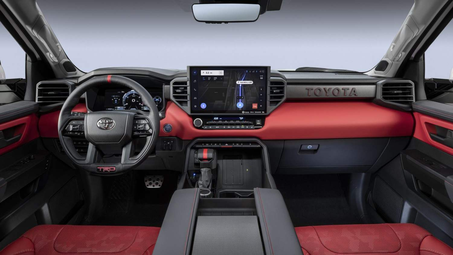 The 14.0-inch touchscreen features Toyota's new Audio Multimedia interface. Image: Toyota