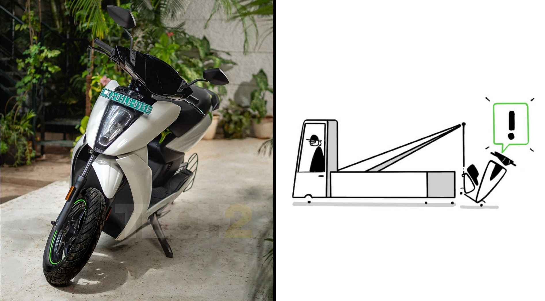 Theft and tow detection is being added to Ather's electric scooters, but only for those who have subscribed to the Connect Pro plan. Image: Ather Energy