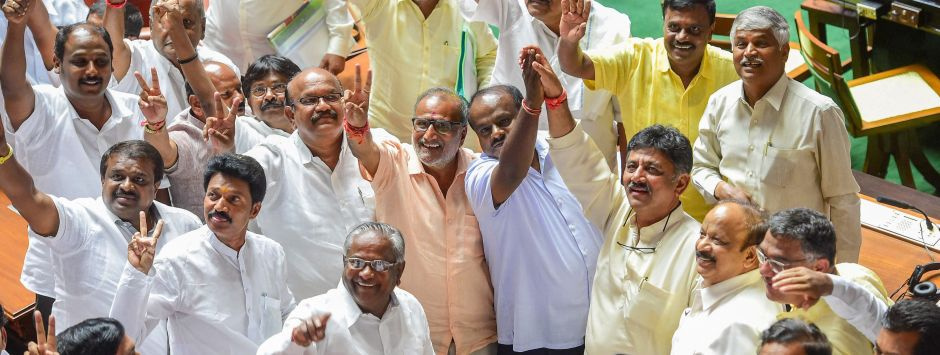 Karnataka floor test updates: HD Kumaraswamy wins trust vote, BJP walks out of state Assembly
