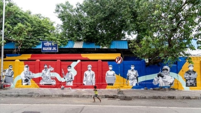 St+art India creates mural at Mumbai's Mahim Junction in honour of the city's frontline workers in COVID-19 fight